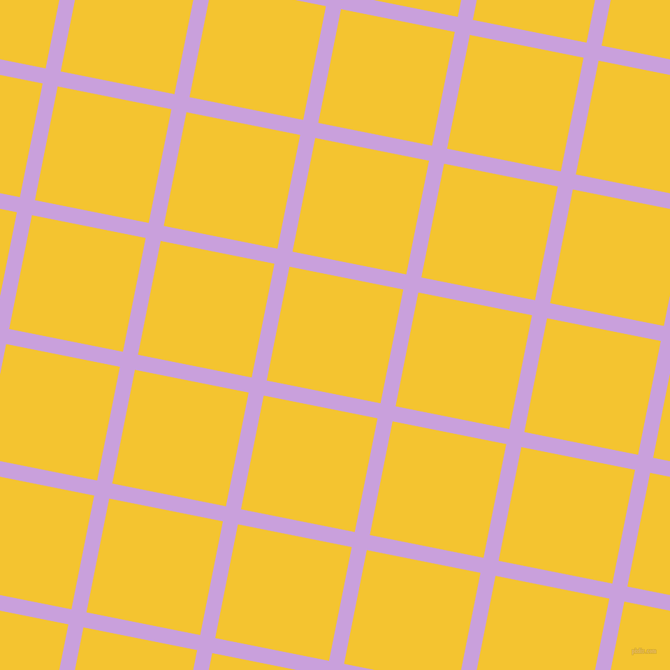 79/169 degree angle diagonal checkered chequered lines, 22 pixel line width, 166 pixel square size, Wisteria and Saffron plaid checkered seamless tileable