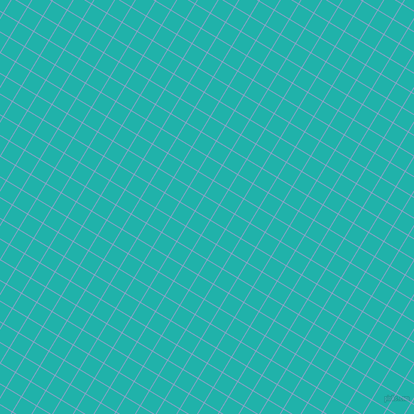 59/149 degree angle diagonal checkered chequered lines, 1 pixel line width, 24 pixel square size, Wistful and Light Sea Green plaid checkered seamless tileable