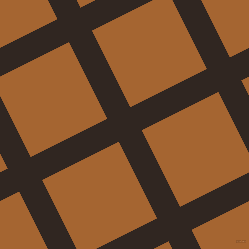 27/117 degree angle diagonal checkered chequered lines, 87 pixel line width, 290 pixel square size, Wood Bark and Mai Tai plaid checkered seamless tileable