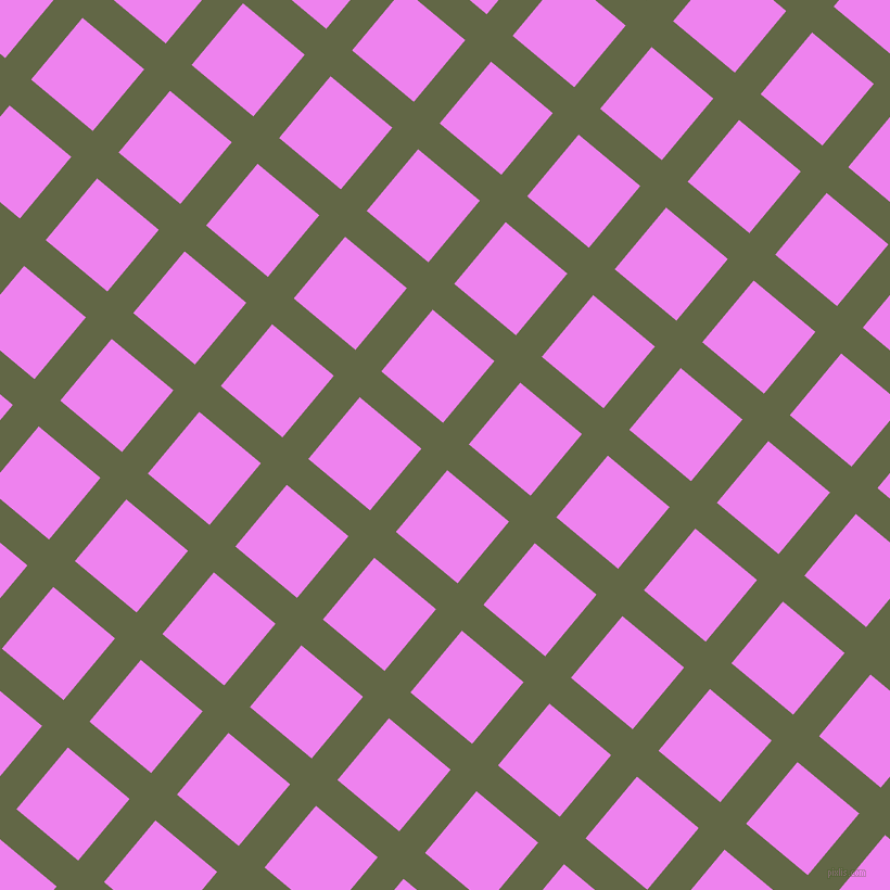 50/140 degree angle diagonal checkered chequered lines, 31 pixel line width, 74 pixel square size, Woodland and Violet plaid checkered seamless tileable