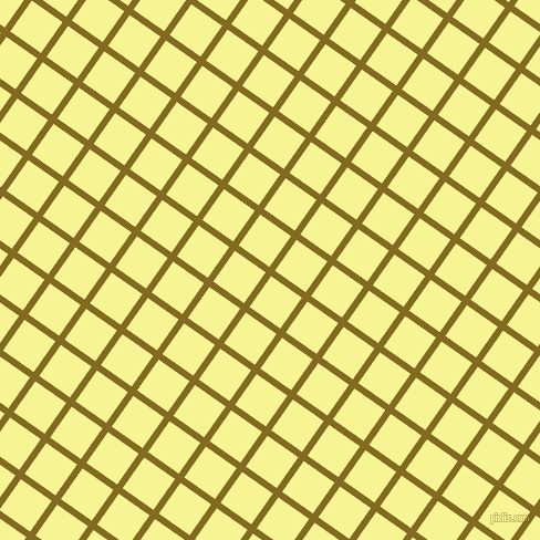 55/145 degree angle diagonal checkered chequered lines, 6 pixel line width, 34 pixel square size, Yukon Gold and Milan plaid checkered seamless tileable