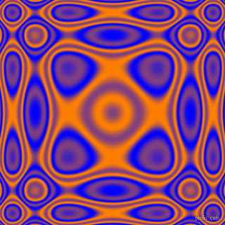 , Blue and Dark Orange plasma wave seamless tileable