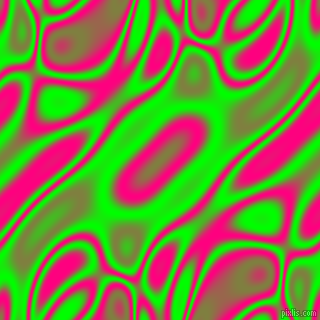 Lime and Deep Pink plasma waves seamless tileable