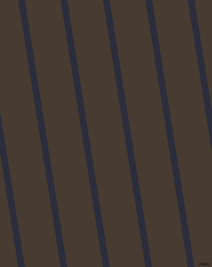 99 degree angle lines stripes, 23 pixel line width, 122 pixel line spacing, Black Rock and Taupe stripes and lines seamless tileable