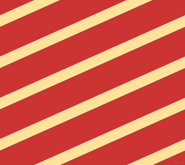24 degree angle lines stripes, 37 pixel line width, 95 pixel line spacing, Cream Brulee and Persian Red stripes and lines seamless tileable