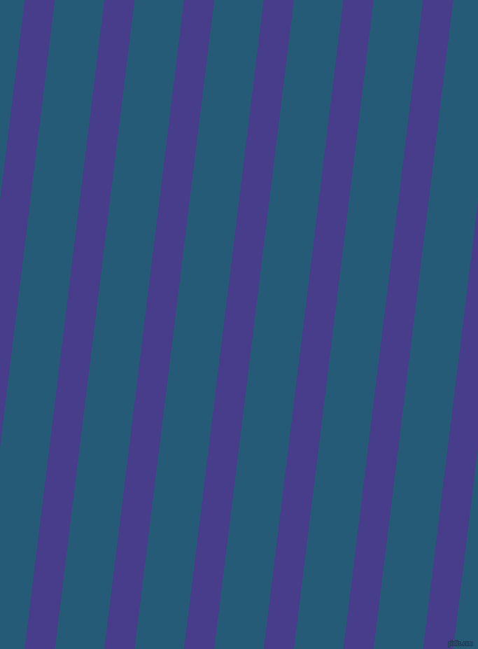 83 degree angle lines stripes, 43 pixel line width, 70 pixel line spacing, Dark Slate Blue and Orient stripes and lines seamless tileable
