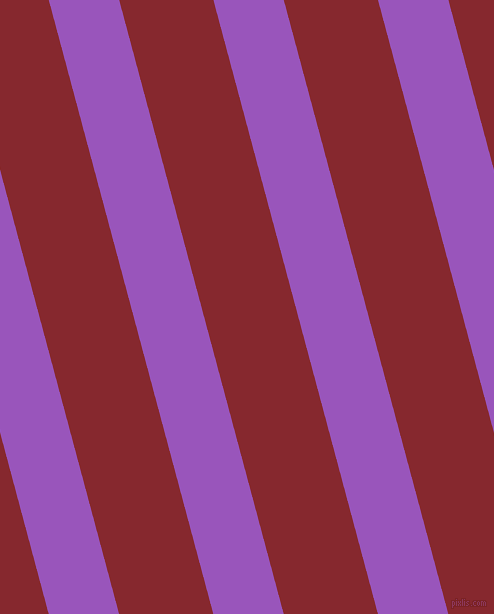 105 degree angle lines stripes, 68 pixel line width, 91 pixel line spacing, Deep Lilac and Flame Red stripes and lines seamless tileable