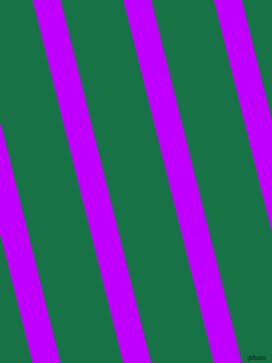 104 degree angle lines stripes, 53 pixel line width, 120 pixel line spacing, Electric Purple and Dark Spring Green stripes and lines seamless tileable