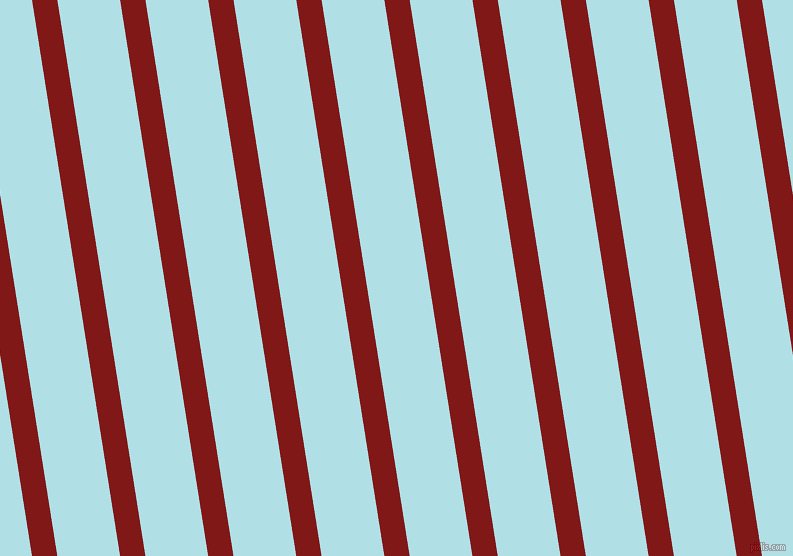 99 degree angle lines stripes, 25 pixel line width, 62 pixel line spacing, Falu Red and Powder Blue stripes and lines seamless tileable