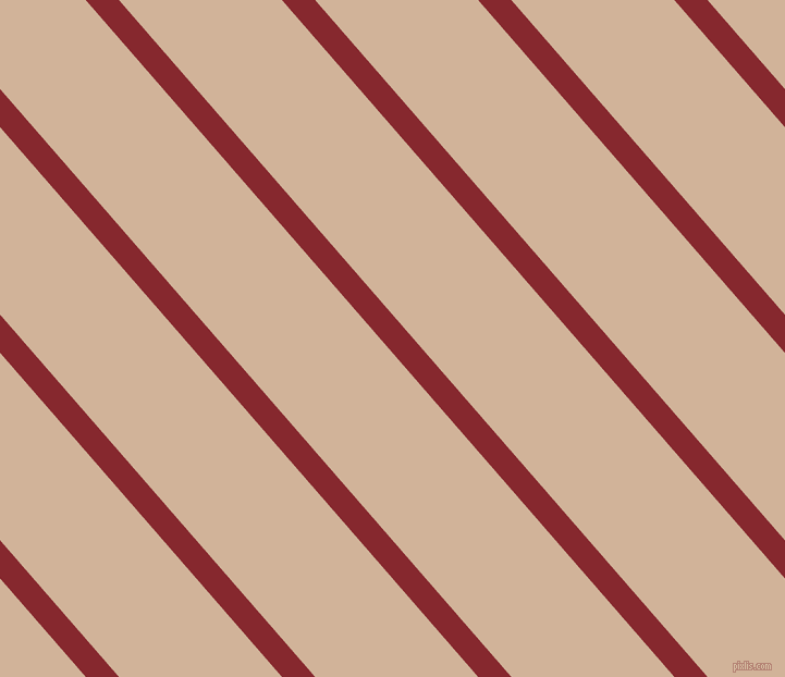 131 degree angle lines stripes, 23 pixel line width, 113 pixel line spacing, Flame Red and Cashmere stripes and lines seamless tileable