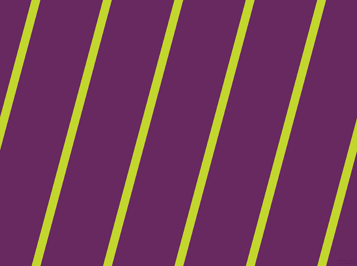 75 degree angle lines stripes, 17 pixel line width, 120 pixel line spacing, Fuego and Palatinate Purple stripes and lines seamless tileable