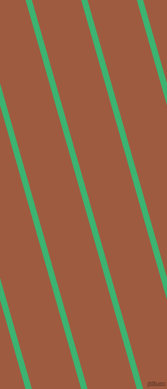 106 degree angle lines stripes, 12 pixel line width, 94 pixel line spacing, Medium Sea Green and Sepia stripes and lines seamless tileable