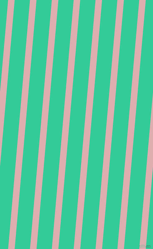 85 degree angle lines stripes, 21 pixel line width, 49 pixel line spacing, Pale Chestnut and Shamrock stripes and lines seamless tileable
