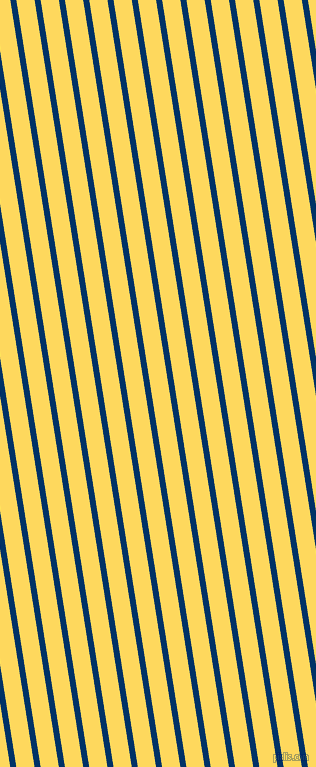 99 degree angle lines stripes, 6 pixel line width, 18 pixel line spacing, Prussian Blue and Dandelion stripes and lines seamless tileable
