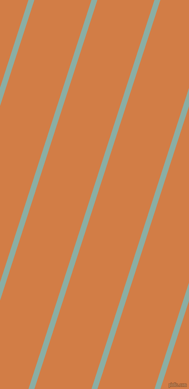 72 degree angle lines stripes, 11 pixel line width, 106 pixel line spacing, Sea Nymph and Raw Sienna stripes and lines seamless tileable