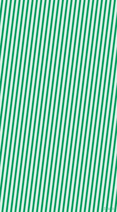 83 degree angle lines stripes, 6 pixel line width, 8 pixel line spacing, Shamrock Green and White Ice stripes and lines seamless tileable