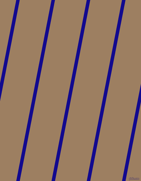 79 degree angle lines stripes, 12 pixel line width, 109 pixel line spacing, Ultramarine and Sorrell Brown stripes and lines seamless tileable