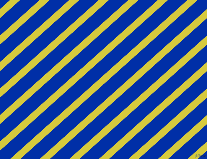 42 degree angle lines stripes, 23 pixel line width, 44 pixel line spacing, Wattle and International Klein Blue stripes and lines seamless tileable